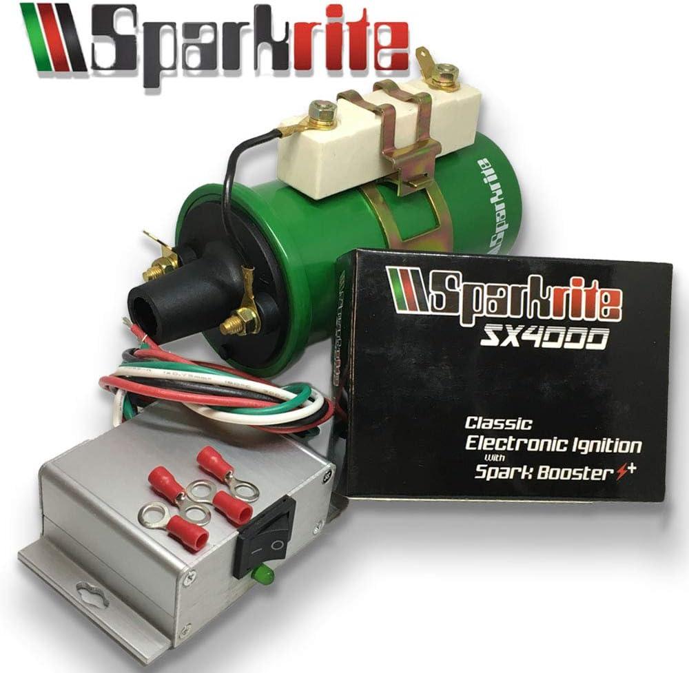 Sparkrite SX4000 Kit de conversi/ón de encendido electr/ónico y bobina de encendido de rendimiento