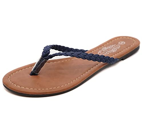 b3128de5c402 Charles Albert Women s Easy Braided Thong Flip Flop Sandal (6
