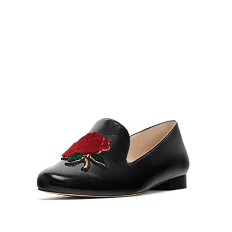 ZZZJR Zapatos de moda de las mujeres Flat Design Sense Flower Shape Mocasines planos con zapatos