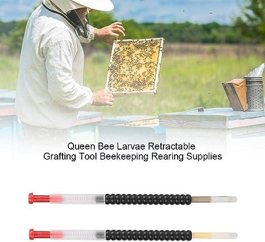 For Beekeeper Grafting Tool Bee Queen Larva Retractable New Supplies P1S1