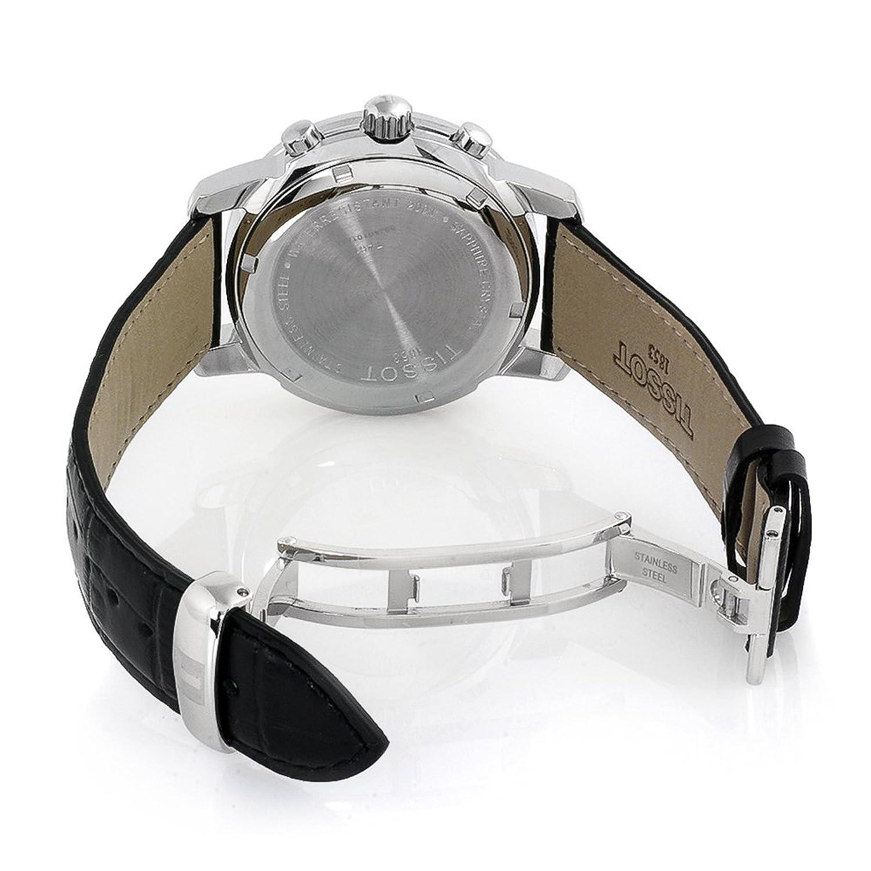 Tissot PRC 200 T1 - Reloj de caballero de cuarzo, correa de piel color negro: Tissot: Amazon.es: Relojes