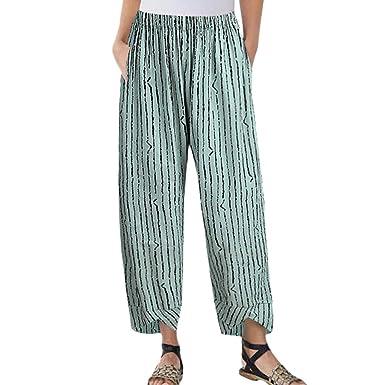 promo code shop for best cheap Rosatro Women Trouser Culottes Pants Women Casual Stripe ...