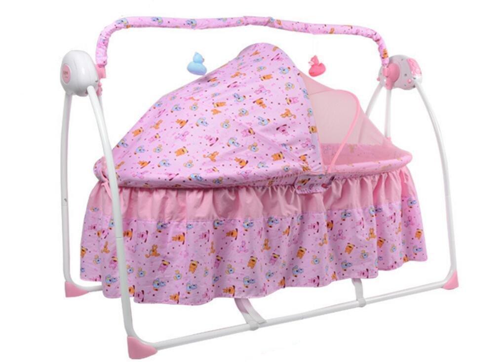 NWYJR Baby Wippe Neugeborene geeignet Vibration bequem Zeit elektrische Multifunktions Musik automatische Swing Bouncer