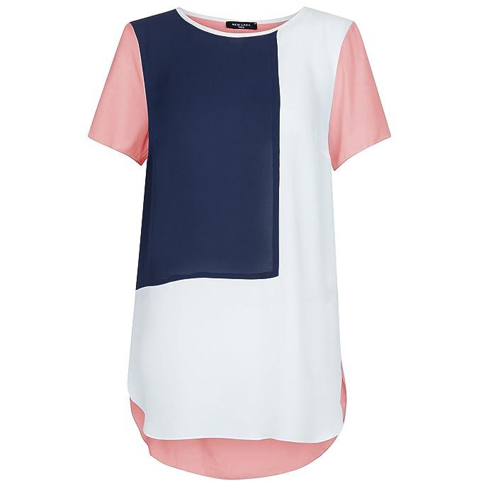 BaronHong Mujeres Verano Plus Size Blusa de gasa de manga corta ...