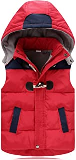 Boys Gilet Body Warmer Hooded Sleeveless Coat Down Winter Age Size