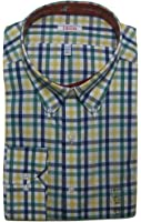 IZOD Men's Classic-Fit Exploded Plaid Poplin Button-Down Collar Dress Shirt