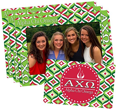 Alpha Chi Omega 4-inch by 6-inch Magnetic Frame and Bonus Magnet, 3-pack