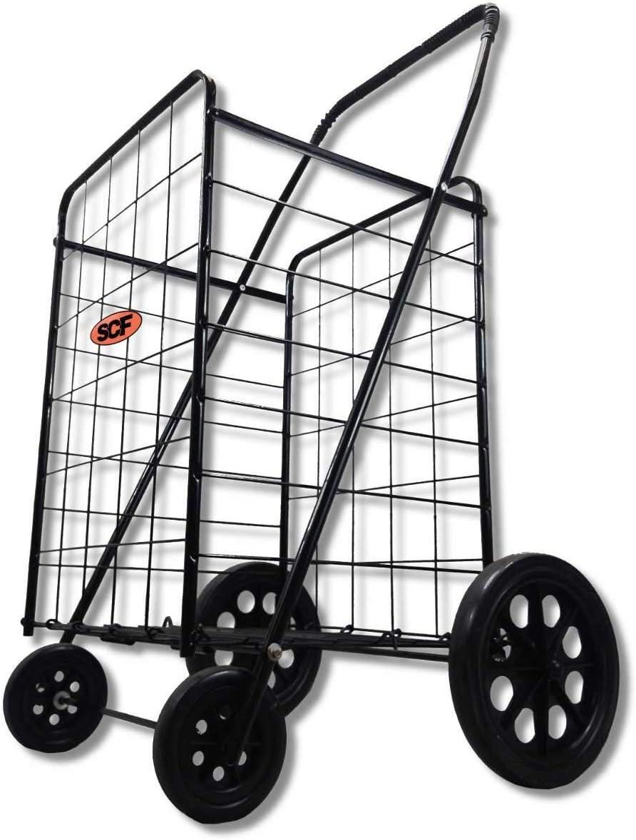Premium Extra Large Light Weight Folding Shopping Grocery Storage Cart Jumbo Size