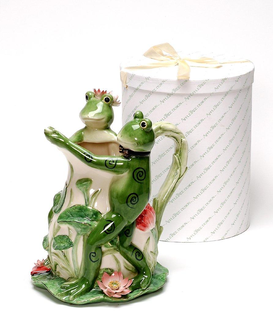 Appletree 10-1//2-Inch Frog Tango Ceramic Pitcher
