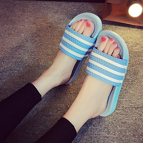 bathroom Male soft bath slippers fankou 35 and female anti stay students lovely A Blue summer 36 indoor slippers couples slip summer cool bottom H0OrdOw8q