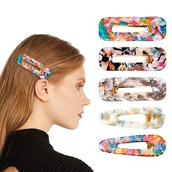Wholesale 10Pcs Hair Snap Clips Cute No Slip Metal Barrettes Hair Clip Hair Pins