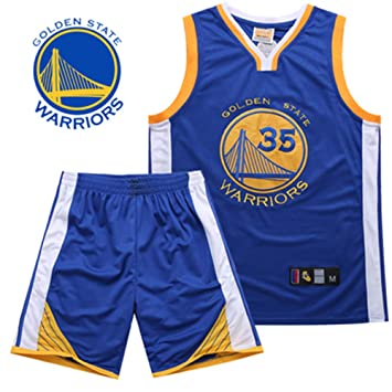 Camiseta De NBA Fan Jersey Camiseta De Baloncesto Hombres Bordados Golden State Warriors Kevin Durant Stephen Curry Traje De Competición Ropa ...