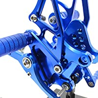Krace Front Motorcycle Rearsets Footpegs Foot Pegs Rear Set Footrests Brake Shift Pedals Fully Adjustable Foot Boards Fit For Yamaha YZF R3 2014-2019,R25 2014-2018,MT25 MT03 2015-2018