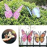 MEIBY 4Pcs Yard Patio Lawn Garden Ornament Fence Simulation Butterfly Wedding Party (4pcs)