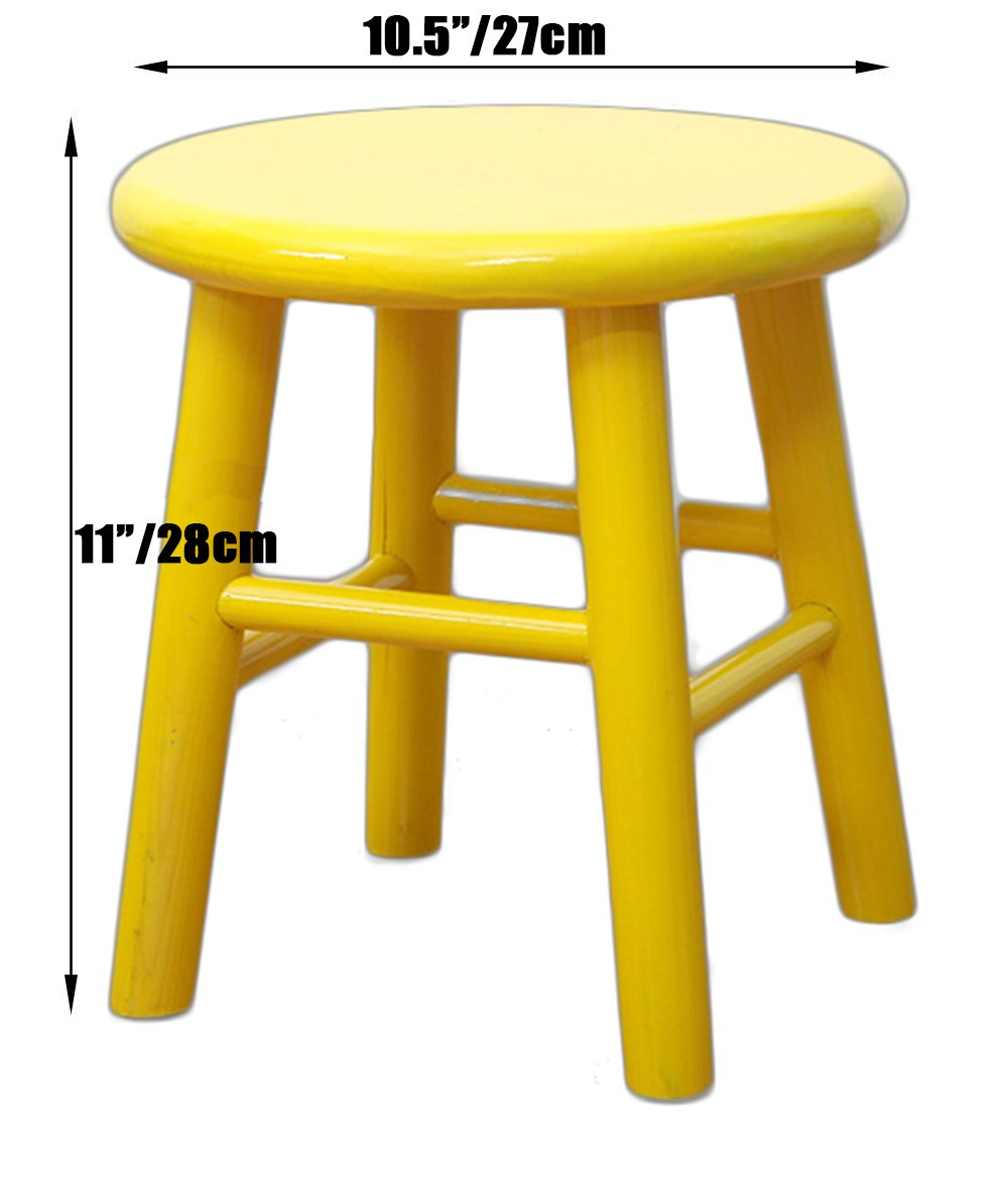 Sigmat Wood Kid Round Stools and Toddler Chair Yellow by Sigmat (Image #2)