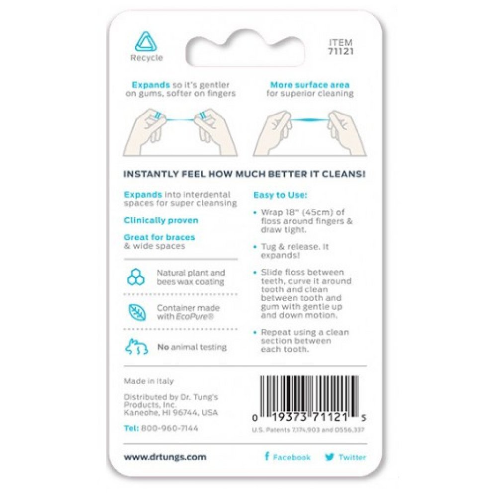 Dr. Tung's Smart Floss, 30 yds, Natural Cardamom Flavor 1 ea Colors May Vary (Pack of 72) by Dr. Tung's (Image #2)