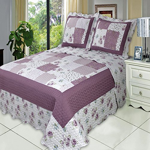 quilts lavender and green queen - 1