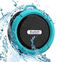 SportsMind Bluetooth Speakers, IPX4 Waterproof Wireless Portable High Performance Bass Stereo Shower Speaker for Samsung iPhone iPad Sony LG Laptop MP3 Players Tablet (Blue)