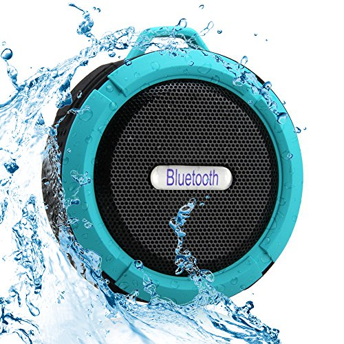 Wireless B/w Wall Clock Camera (SportsMind Bluetooth Speakers, IPX4 Waterproof Wireless Portable High Performance Bass Stereo Shower Speaker for Samsung iPhone iPad Sony LG Laptop MP3 Players Tablet (Blue))