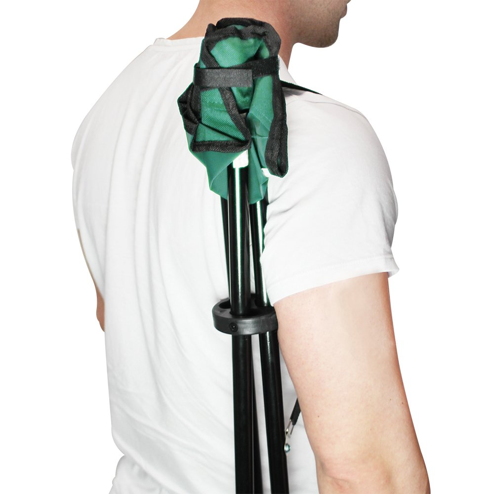 com-four/® Taburete Plegable 2 con tr/ípode Silla de Camping Plegable y compacta una pr/áctica Bolsa de Transporte