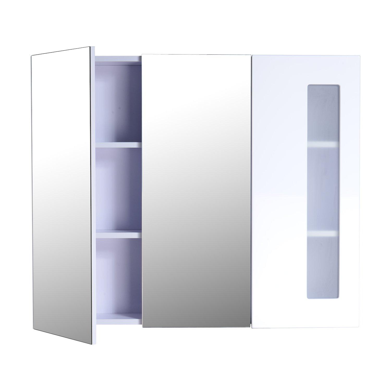 Element Salle De Bain Ikea ~ Ref 36 Toilet Bathroom Mirror Wall Cabinet With 3 Doors And 2