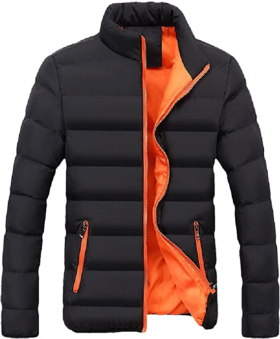 Jushye Mens Zipper Outwear,Autumn Winter Casual Solid Slim Bomber Jacket Coats