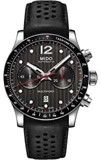 Mido Multifort Chronograph Leather Strap Automatic Mens Watch M0256271606100