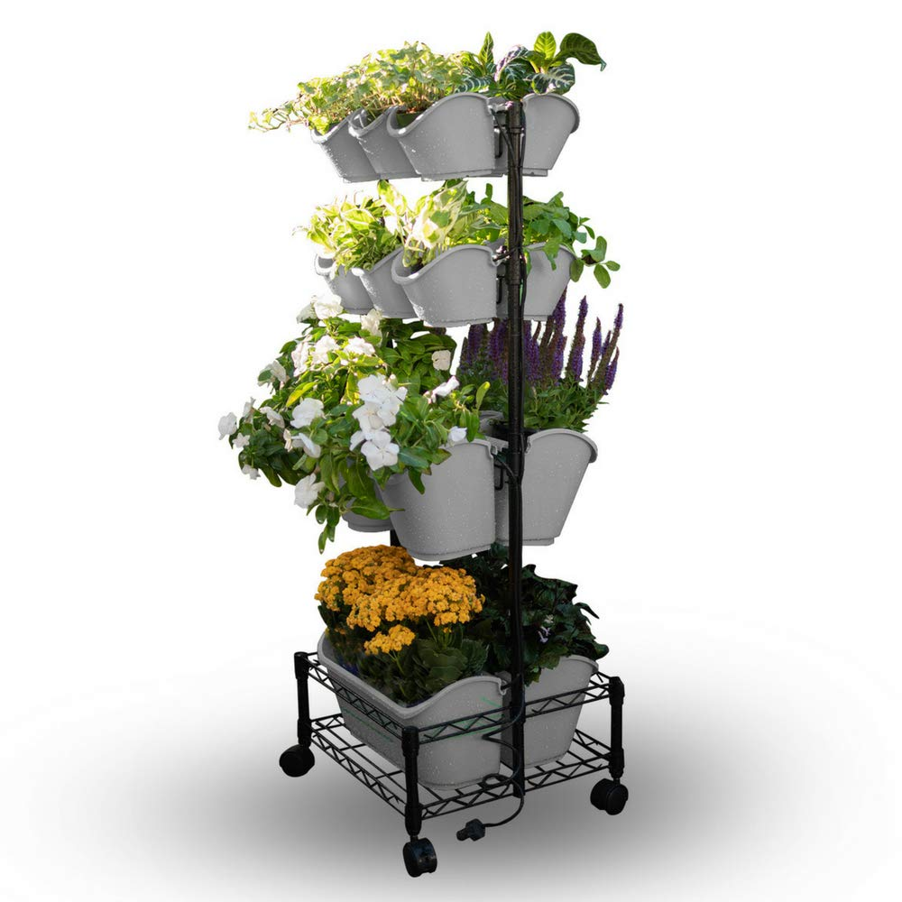 Watex Mobile Green Wall, Double Frame, (Cool Gray)