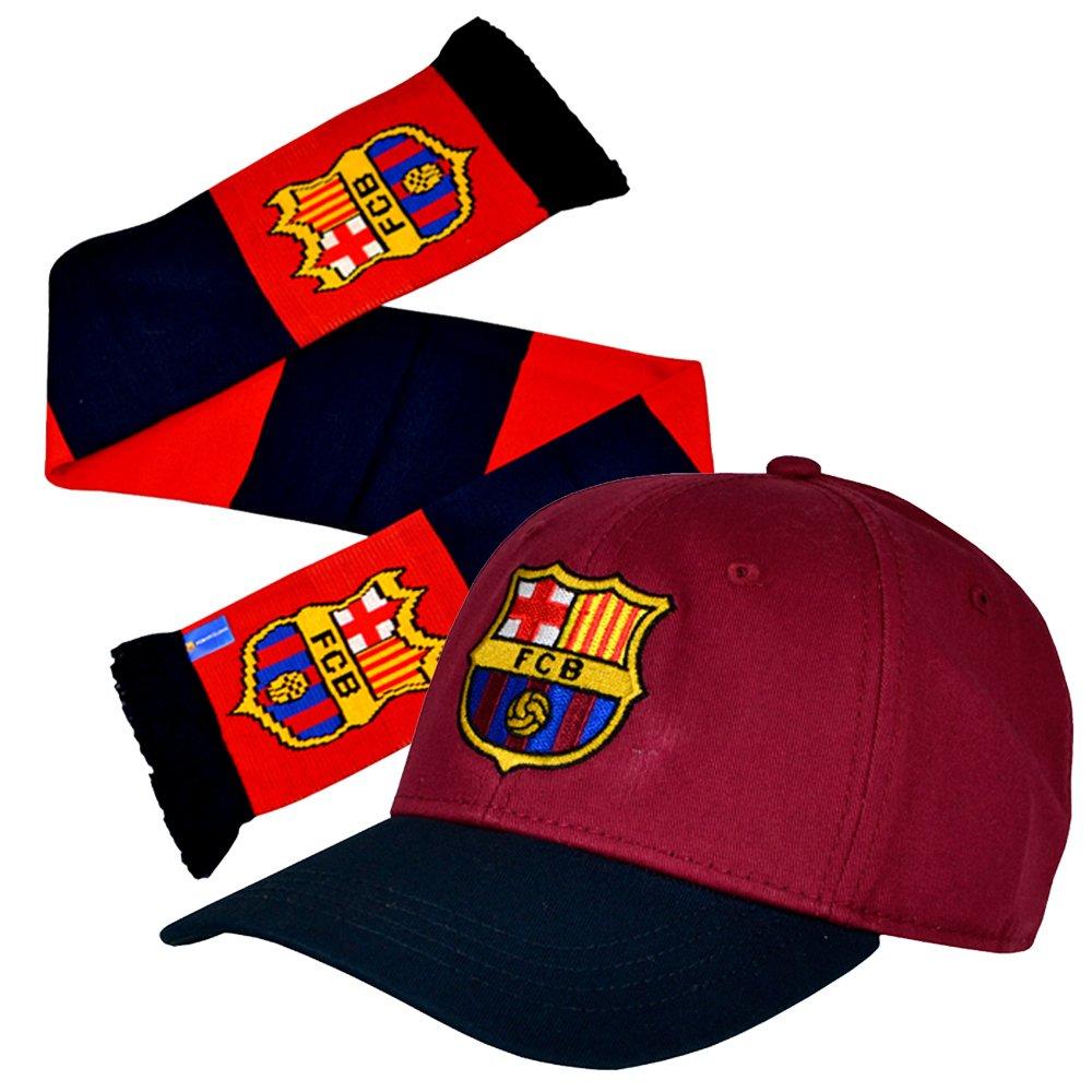 Gorra de béisbol oficial del Barcelona FC y bufanda Combo: Amazon ...