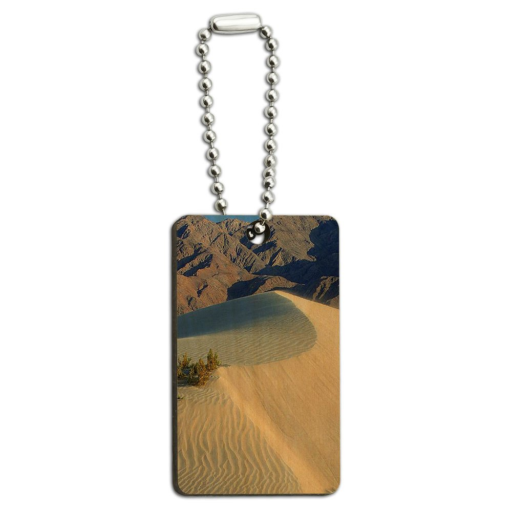 Death Valley National Park CA - Sand Dunes Wood Wooden Rectangle Key Chain