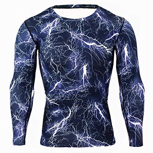 Pour Bleu De Longues Musculation Fantaisiez Hauts Sweatshirt Six Manches Fitness Hommes Couleurs À Séchage Camouflage Vêtements Blouse Rapide BqpEO