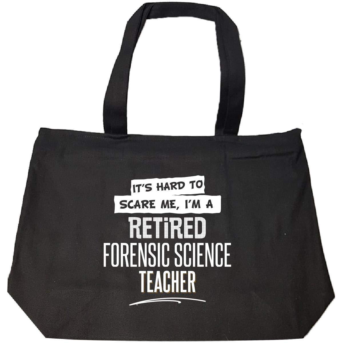 Gift For A Retired Forensic Science Teacher Hard To Scare Me - Tote Bag With Zip by My Family Tee