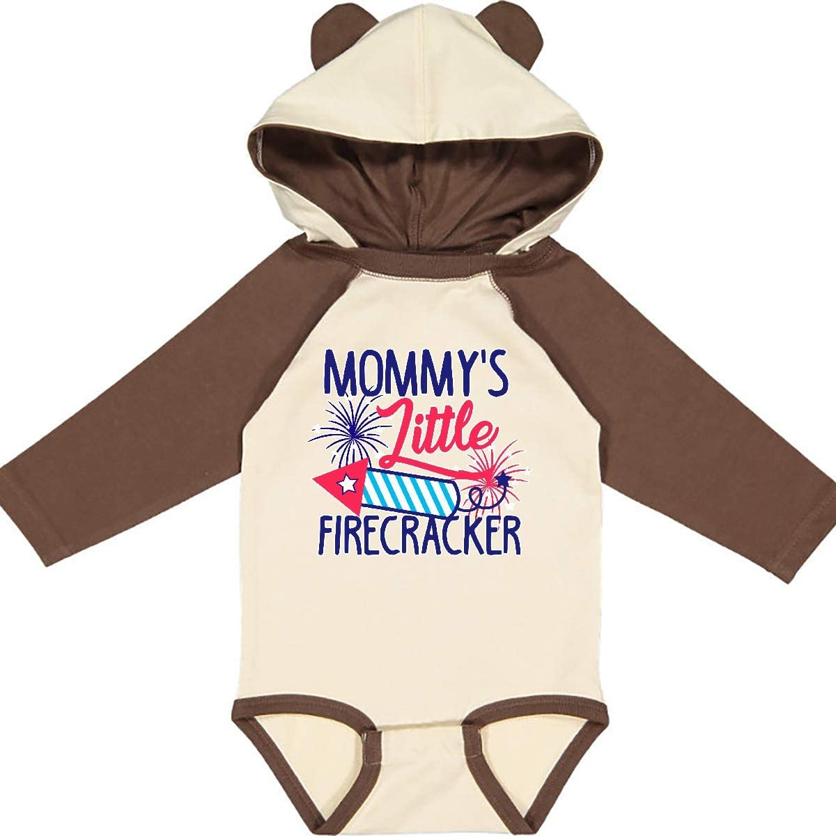 inktastic Mommys Little Firecracker with Rocket and Long Sleeve Creeper