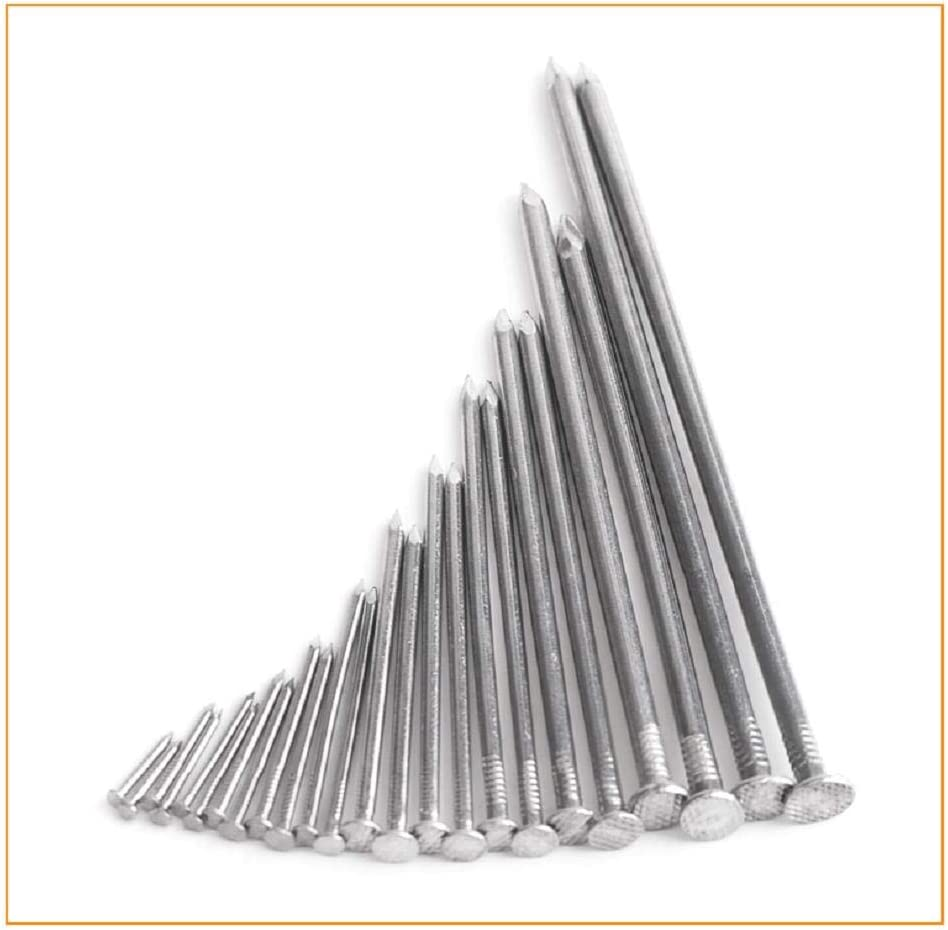 Nails, 304 Stainless Steel Round Nails, Stainless Steel Nails, Stainless Nails, 1.5KG-16mm 21mm