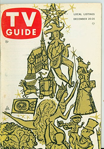 1958 TV Guide Dec 20 Merry Christmas - Southern Ohio Edition NO MAILING LABEL Excellent (5 out of 10) Lightly Used by Mickeys Pubs (Southern Reviews Christmas Show)