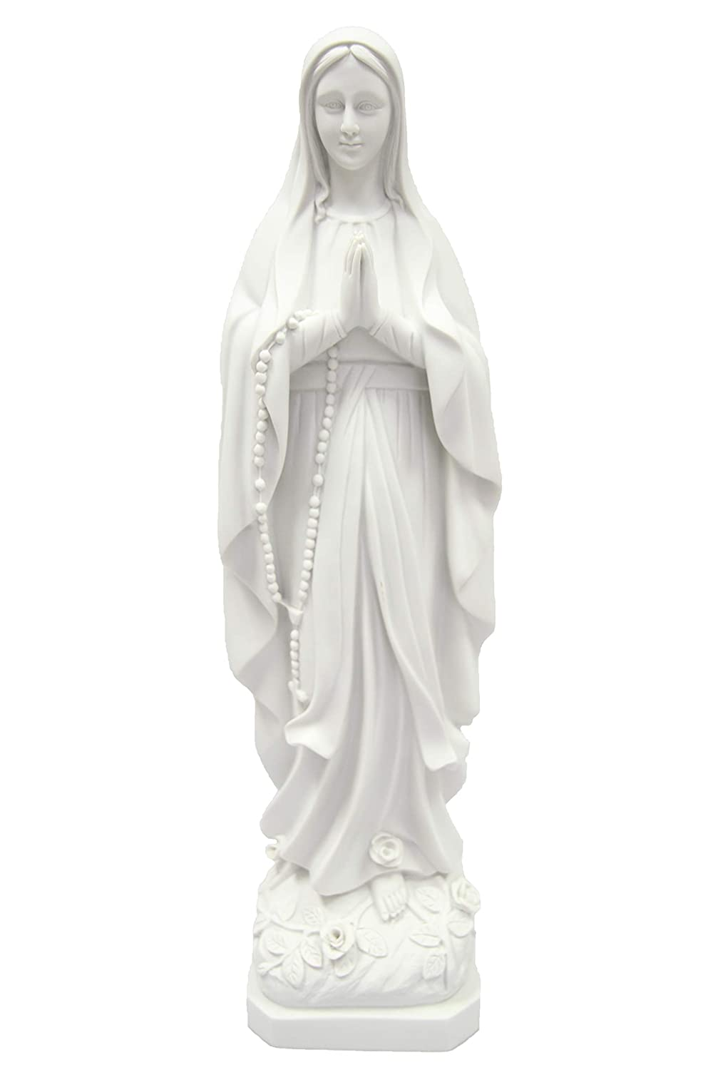 """24.5"""" Our Lady of Lourdes Virgin Mary Catholic Statue Sculpture Religious Figure Vittoria Made in Italy"""