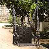 International Caravan Valencia Hanging Patio Swing in Chocolate