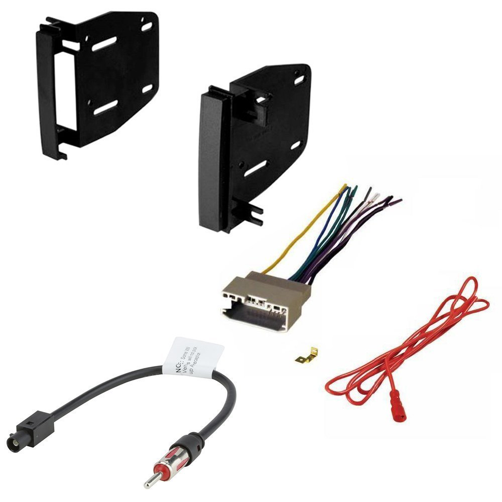 Dodge 2009-2012 RAM 1500 CAR CD Stereo Receiver Dash Install MOUNTING KIT Wire Harness and Radio Antenna Adapter
