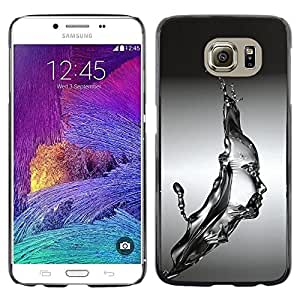LECELL--Funda protectora / Cubierta / Piel For Samsung Galaxy S6 SM-G920 -- Fluid Dynamic Face Abstract --