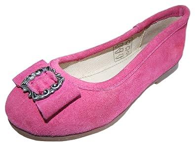 e9bfe31ee4cbaf Isar-Trachten Trachten Ballerinas mit Zierschnalle Pink Gr. 25 für Mädchen  - Schöne Kinder