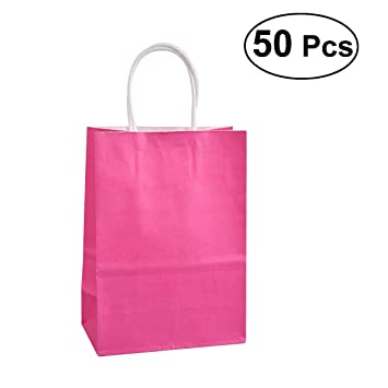 Amazon.com: TOYMYTOY 50pcs Kraft Paper Bags Party Gift Candy ...