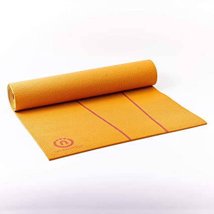 Natural Fitness Eco-Smart Yoga Mat (Orange/Red, 24 x 69-Inch x 6-mm)