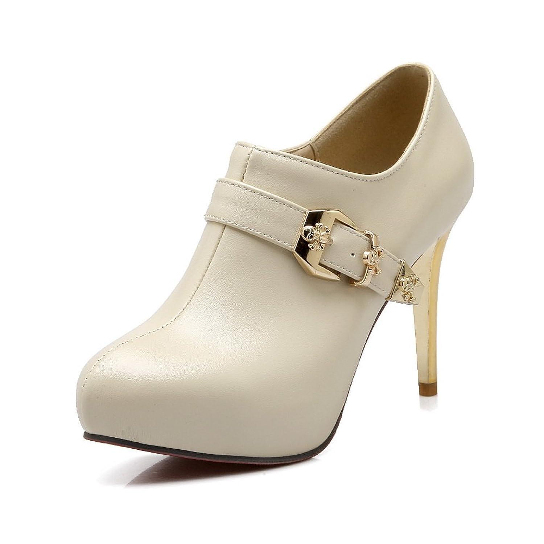 421e508e2259 BalaMasa Girls Electroplate Heel Studded Rhinestones Metal Buckles Platform  Imitated Leather Boots delicate