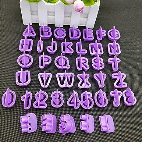 Kentop 40pcs Cortadores Fondant Letras Moldes Letras Repostería: Amazon.es: Hogar