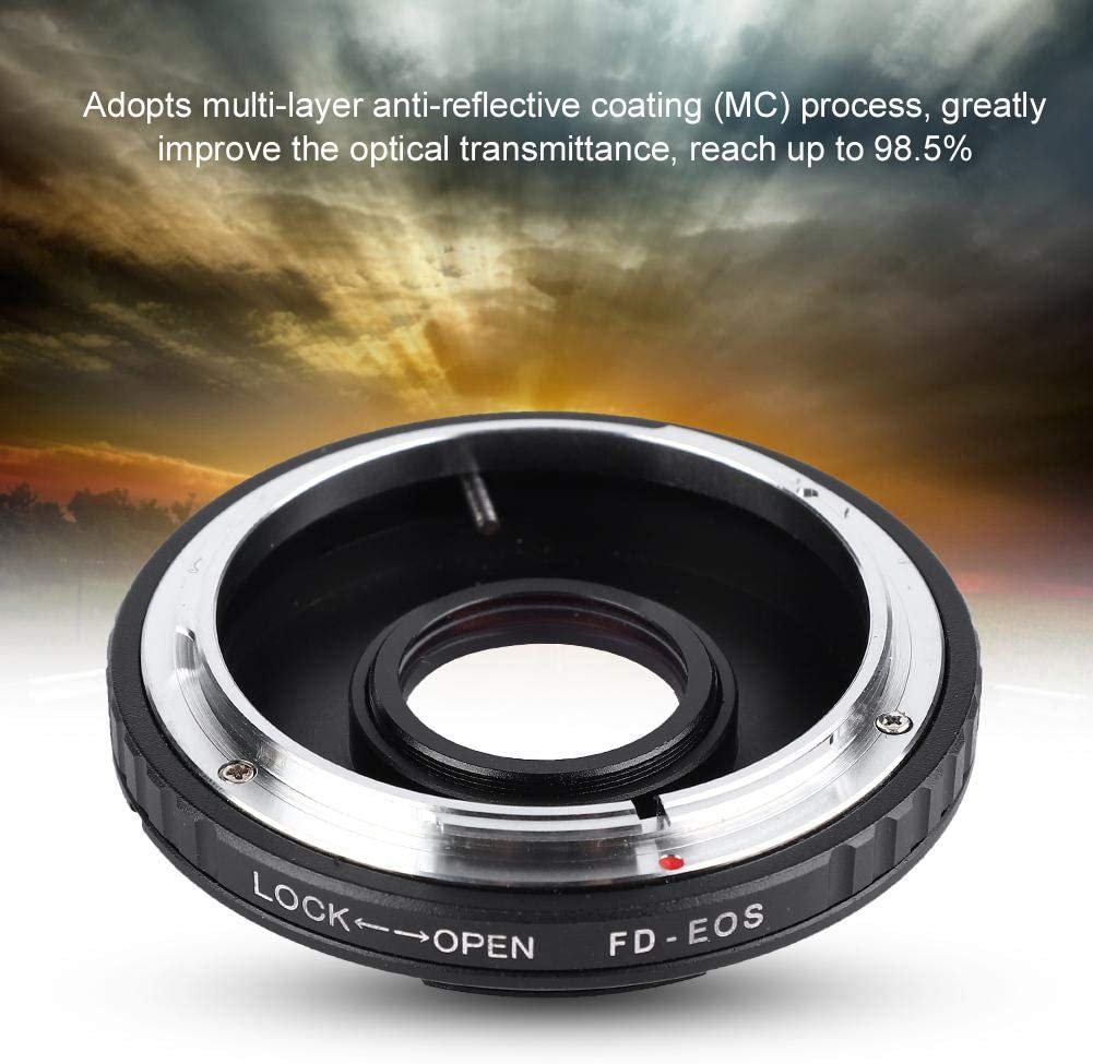 Serounder Lens Mount Adapter Ring for FD Lens to Canon EOS Cameras Mount with Front Rear Cover