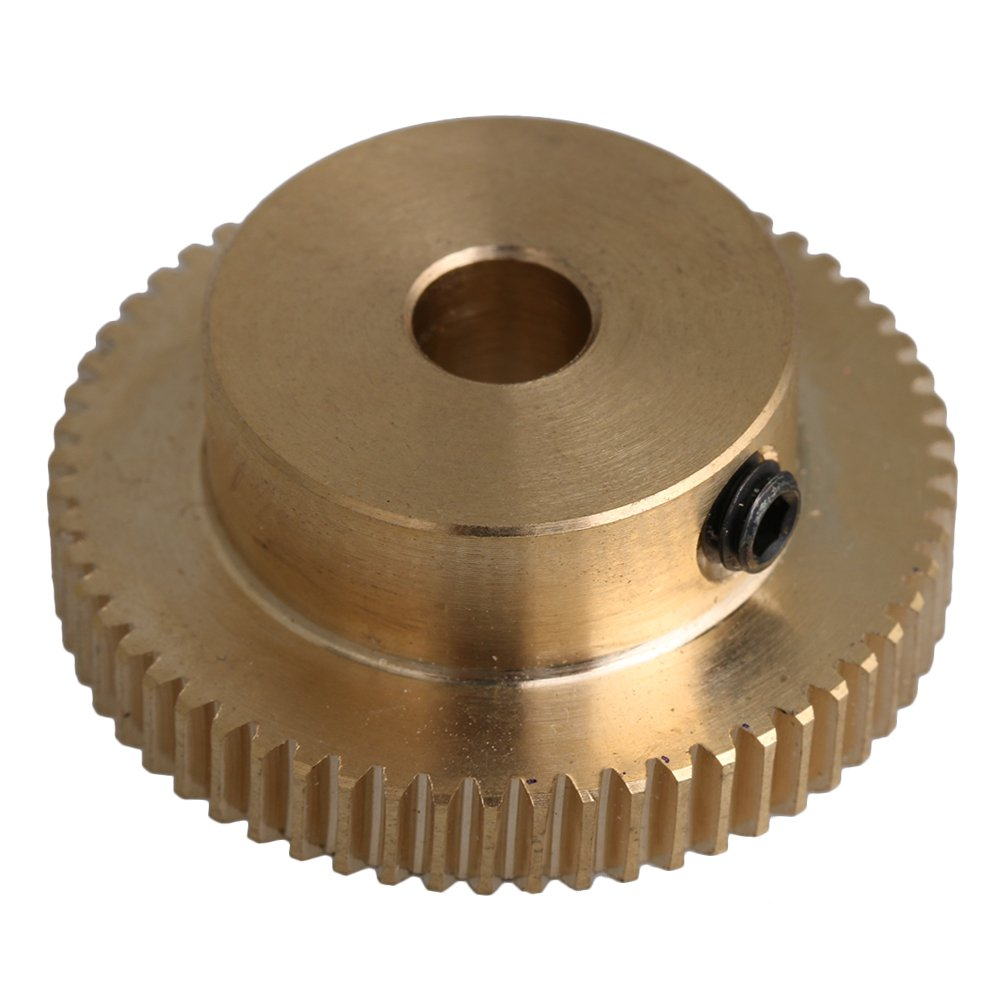 CNBTR 31x12x6mm Yellow 0.5 Modulus 31mm 0uter Dia 60 Teeth Brass Worm Gear Wheel Accessory with Screws for Gear Box Shaft Brake Driving yqltd M6180410053