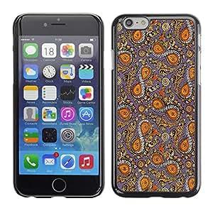 QCASE / Apple Iphone 6 / tela patrón tradicional de diseño infinito ocho símbolo / Delgado Negro Plástico caso cubierta Shell Armor Funda Case Cover