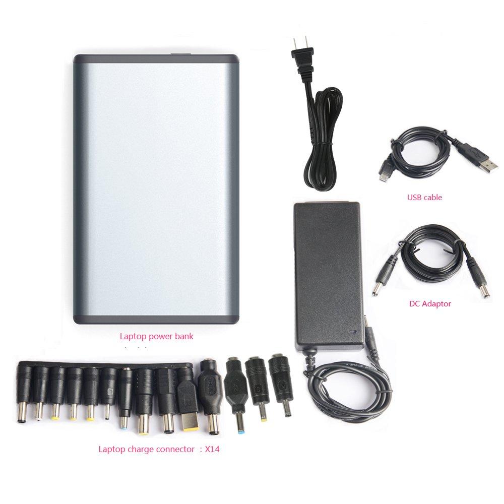 Portátil Batería Externa Cargador de 50000 mAH Banco de energía portátil Power Pack (5/12/20 V) para ordenador portátil Tablet Teléfono ...