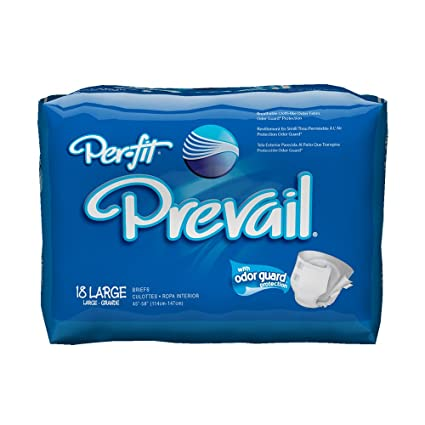 Amazon.com: Prevail Per-Fit Maximum Plus Absorbency Incontinence Briefs, Large, 18-Count: Health & Personal Care