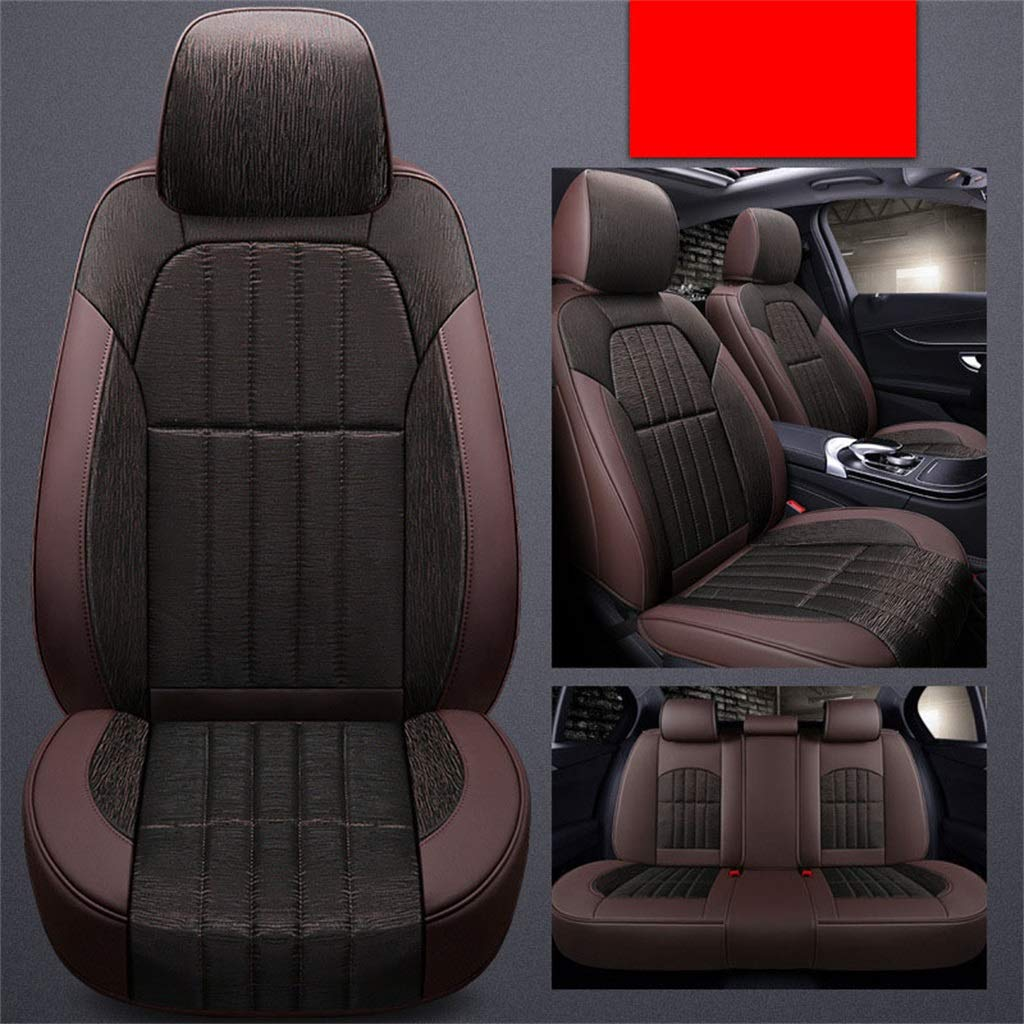 Car Seat Covers Full Set 5 Seaters Universial for Cars Four Seasons Universal Coffee color